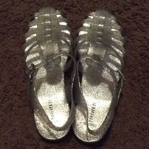 Forever 21 Silver Sandals
